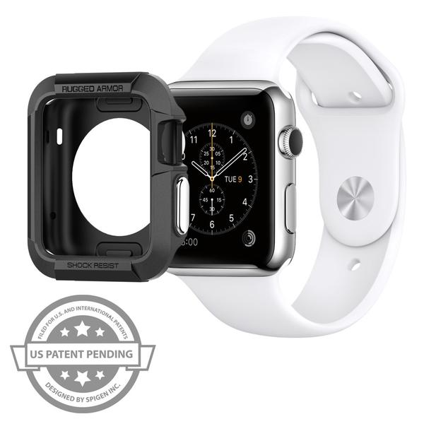 purchase cheap 390fe c9ecf Apple Watch Series 3 / 2 / 1 (42mm) Case Rugged Armor   Spigen ...