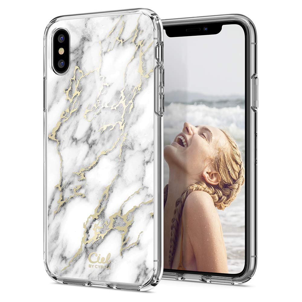 new style d1d43 91e21 iPhone XS / X Case Cecile Glossy Marble | Spigen Philippines