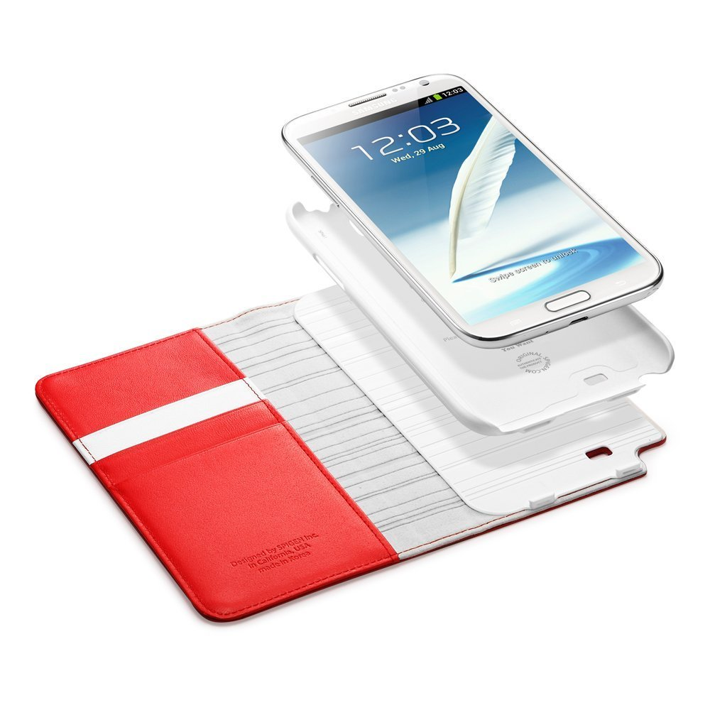 low priced 71e7e 8fce5 Galaxy Note 2 Case Snap Leather Wallet | Spigen Philippines